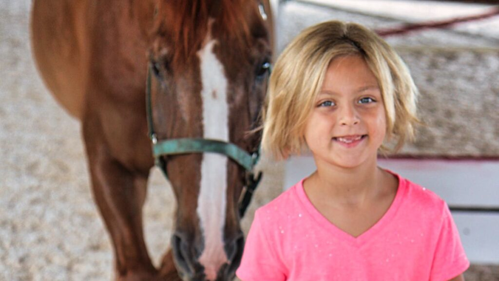 young horse camp girl