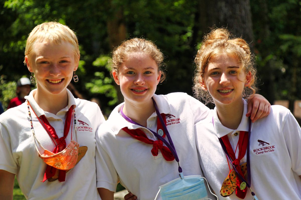 camp girls dressed in traditional uniform