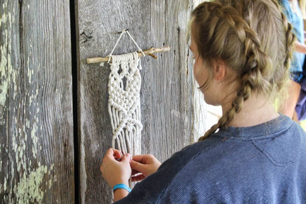 campers macrame project
