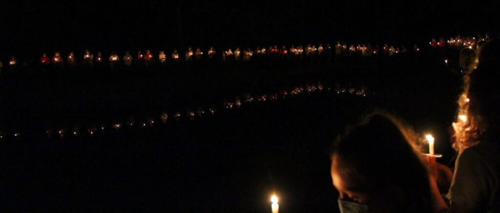 rockbrook candle ceremony at camp lake